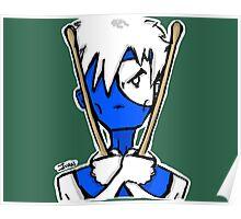 Ninja Drummer Poster