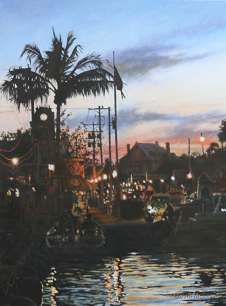 Sunset over Key West by David McEwen