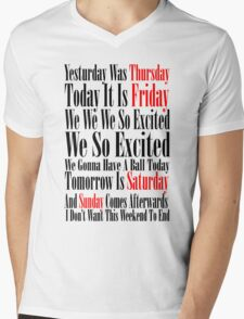 Rebecca Black Friday Mens V-Neck T-Shirt