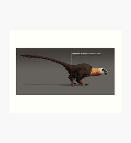 Deinonychus paleoart Art Print