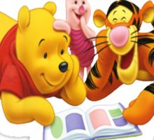 winnie the pooh story time Sticker