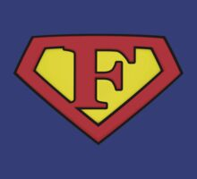 SUPER F Logo Shield by Adam Campen