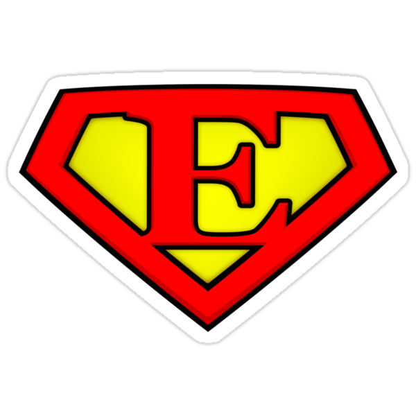 SUPER E Logo Shield by Adam Campen