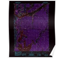 USGS Topo Map Oregon Florence 279902 1984 24000 Inverted Poster