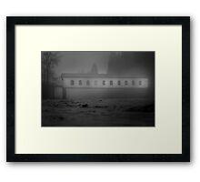 Historic covered bridge near Eugene Oregon Framed Print