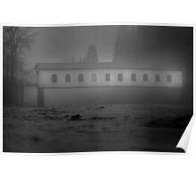 Historic covered bridge near Eugene Oregon Poster