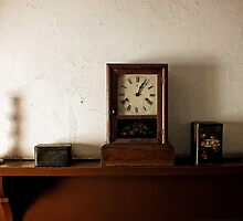 Still Life with a Clock by Ludwig Wagner