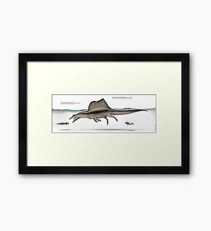 Spinosaurus paleoart Framed Print