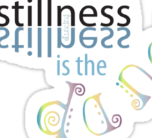 In The Stillness Sticker