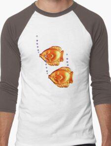Fishies Blub blub blub t-shirt design Men's Baseball ¾ T-Shirt