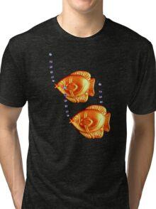 Fishies Blub blub blub t-shirt design Tri-blend T-Shirt