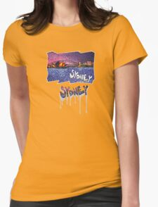 Sydney -small logo Womens Fitted T-Shirt