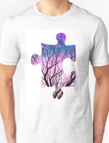 Puzzle Pink Tree Unisex T-Shirt