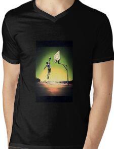 DUNKART SUNSET Mens V-Neck T-Shirt