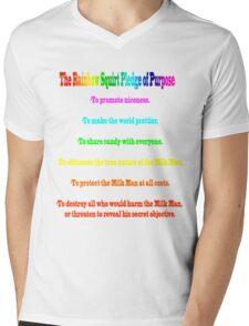 The Rainbow Squirt Pledge Of Purpose Mens V-Neck T-Shirt