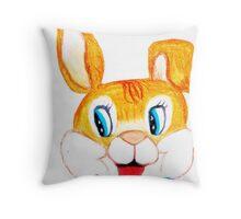 Mr. Jack Rabbit Throw Pillow