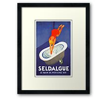 Leonetto Cappiello Affiche Seldague Framed Print
