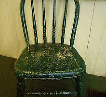 Antique Child's Chair with Quilt by RC deWinter
