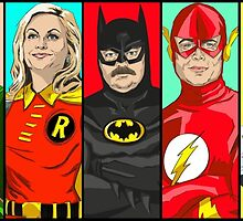 Parks and Rec superheros by rhg26