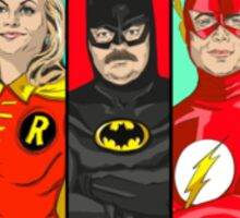 Parks and Rec superheros Sticker