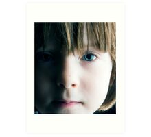 Low Key Childs Portrait Art Print
