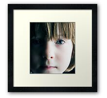 Low Key Childs Portrait Framed Print