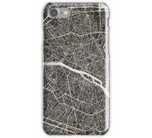 Paris map iPhone Case/Skin