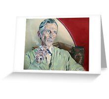 Actor Peter Cushing Greeting Card