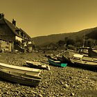 Boats at Porlock Weir by Rob Hawkins