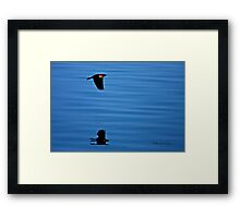 Downward Thrust in double time above and below Framed Print
