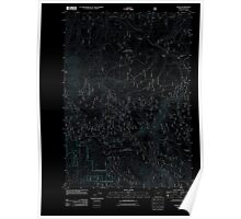 USGS Topo Map Oregon Bates 20110817 TM Inverted Poster