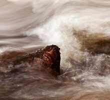 A Study Of Water - Red Granite Jewel by Kevin Skinner