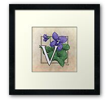 V is for Violet Framed Print