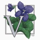 V is for Violet patch by Stephanie Smith