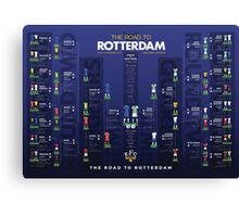 The Road to Rotterdam - 1985 Cup Winners Canvas Print