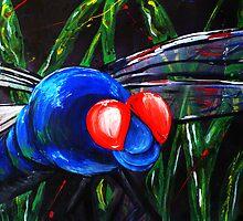 I Like Big Bugs - Huge Dragonfly Close-up by Jonathan Manning
