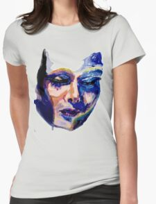 Face in acrylic Womens Fitted T-Shirt