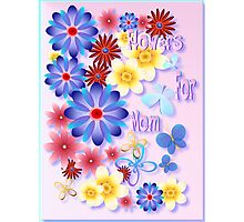 Flowers For Mom - pink Photographic Print