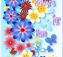Flowers For Mom - blue by Lotacats