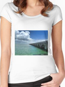 Seven Mile Bridge, The Keys Women's Fitted Scoop T-Shirt
