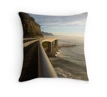 Railing - Seacliff Bridge, Illawarra, Australia Throw Pillow