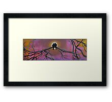 Birds Of A Feather, Tree Painting Framed Print