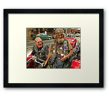 Thunder and Animal at Kings Cross Framed Print