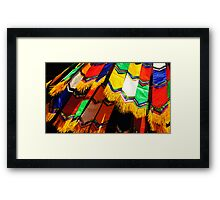 Colours of Buddhism Framed Print