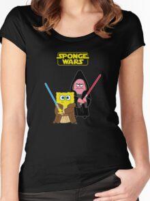 Sponge Wars Women's Fitted Scoop T-Shirt
