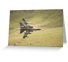 Warton Tornado GR4 ZG773 makes a low pass of CAD West Greeting Card