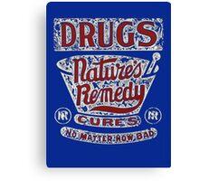 Funny Vintage Drugs T-shirt Canvas Print