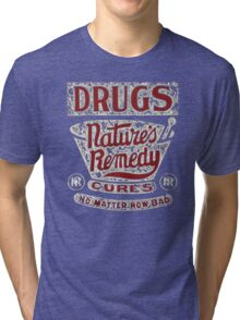 Funny Vintage Drugs T-shirt Tri-blend T-Shirt