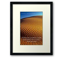 Possibility - Golden Desert Dunes with Quote Framed Print