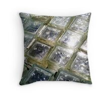 glass bricks Throw Pillow
